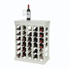 Wood Wine Cabinet New Real Wooden Wine Rack Cabinet Muscat 30 White Pearl