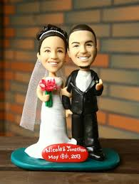 cake toppers bobblehead custom wedding cake toppers personalize the figure