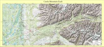 houston fault map gis coverages of the castle mountain fault south central alaska