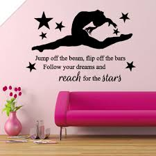 online get cheap wall gymnastic quotes aliexpress com alibaba group gymnastic girls gymnast bedroom quote vinyl wall art sticker decal mural china