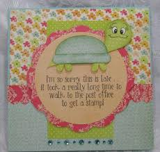 slowpoke belated birthday card allfreepapercrafts com