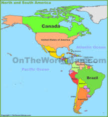 Mexico Central America And South America Map by North America Maps Maps Of North America Ontheworldmap Com