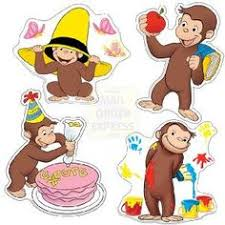 curious george printables flip book birthday party pbs