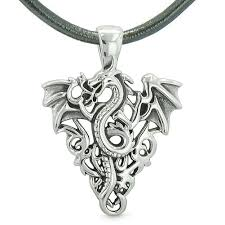 charm leather necklace images Lucky dragon charms totems amulet flying dragon celtic jpg