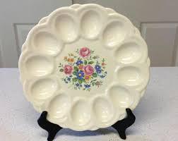 vintage deviled egg plates deviled egg plate etsy