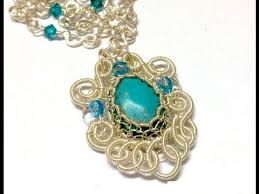 jewelry necklace turquoise images Turquoise filigree pendant wire jewelry making tutorial preview jpg