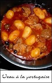 cuisiner portugais recette de veau à la portugaise la recette facile