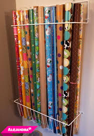 gift wrap storage ideas best way to store wrapping paper rolls