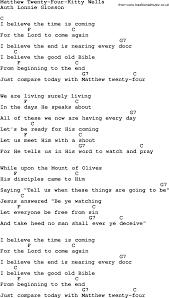 country southern bluegrass gospel song matthew twenty