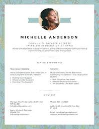 Resume Acting Template by Acting Resume Template Student Actor Resume Template Theatre