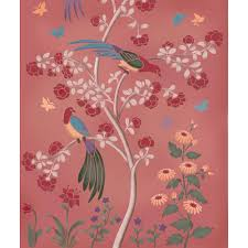 the birds and roses chinoiserie wall mural stencil from cutting the birds and roses chinoiserie wall mural stencil from cutting edge stencils is a diy wall