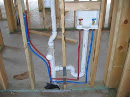 plumbing and electrical rough ins done in vanity area bathroom