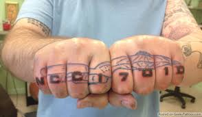 the best starship enterprise knuckle tattoo geeky tattoos