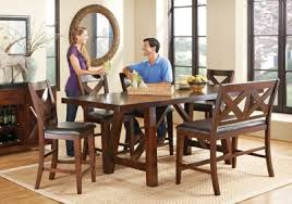 Rooms To Go Dining Room by Mango Burnished Walnut 6 Pc Counter Height Dining Room Dining