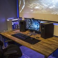 Gaming Desk Setup by 355 Best Multiple Monitor U0026 Pc Desk Images On Pinterest Gaming