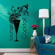 decor mural cuisine stickers cuisine cocktails lounge vinyl wall sticker decals