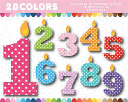 number birthday candles birthday candle numbers with polka dots candle clipart birthday