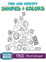 shapes and colors worksheet kindergarten common core k g 2 k g