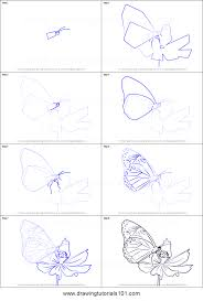 how to draw a butterfly on flower printable by drawing