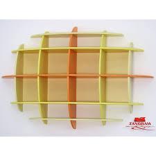 ovvio librerie libreria pensile semisferica ellisse in legno multistrato 148 x 35