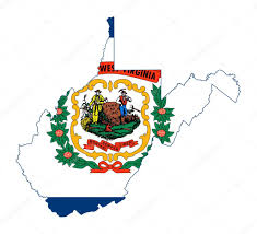 Map Of West Virginia State Map Of Usa by State Of West Virginia Flag Map U2014 Stock Photo Speedfighter17