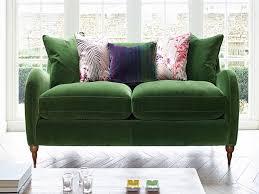 furnitures green velvet sofa lovely vintage base mint green