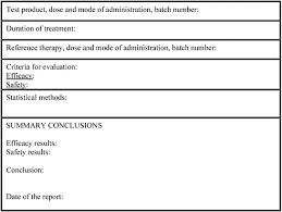 clinical trial report template appendix f illustrative data fields for the results summary
