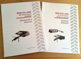 new holland 489 haybine mower conditioner operator u0027s and service