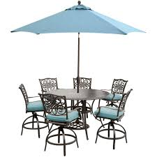 Patio Furniture Bar Height Set - hanover traditions 7 piece outdoor bar height dining set with