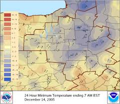 Weather Map Ny Record Cold Temperatures December 14 2005