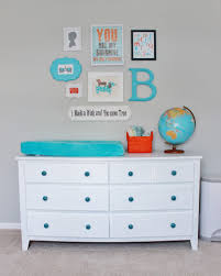 Pali Lily Crib Aqua Orange And Grey Nursery Project Nursery