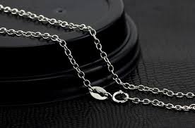 necklace size men images 2018 925 sterling silver men necklace chain 3m and 2m size o type jpg