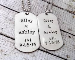 customized dog tag necklace dog tag boyfriend etsy