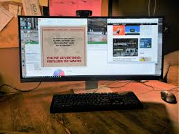black friday computer monitor living on a double wide embracing extra wide curved monitors
