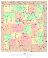 Cities In Colorado Map by Large Detailed Administrative Map Of New Mexico State With Roads