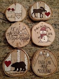 15 ornaments you should try 1 faith log slices diy