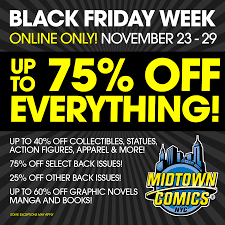 thanksgiving sales new york midtown comics 2016 black friday sales u2013 get up to 75 off