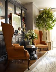 Leather Wing Back Chairs Leather Wingback Chair Design Ideas