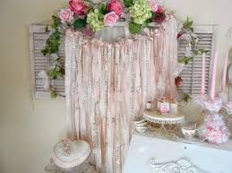 Shabby Chic Tablecloth by Olivia U0027s Romantic Home Shabby Chic Rag Garlands