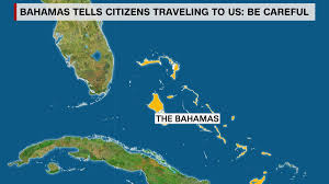 The Bahamas Map Bahamas Issues Travel Warning To Citizens Traveling To U S
