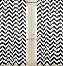 Black And White Chevron Bedding Black And White Chevron Window Treatment Zig Zag Panels Set Of 2