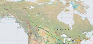 Map Of Edmonton Canada by Canada And Alaska Pipelines Map Crude Oil Petroleum Pipelines