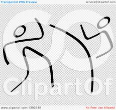 clipart of black and white olympic taekwondo stick men royalty