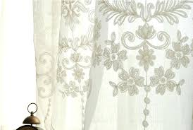 European Lace Curtains European Sheer Curtains Embroidery White Custom Made Sheer