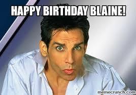 Blaine Meme - birthday blaine