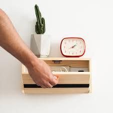 floating shelf that u0027s also a charging station spanish design