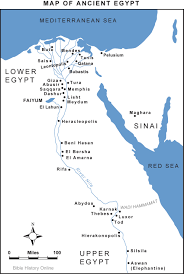Nile River On Map Map Of Ancient Egypt Bible History Online