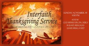 interfaith thanksgiving service november 19 at shepherd