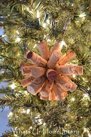 easy wine cork craft cork ornament whats ur home story