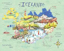 England Google Maps by Illustrated Map Iceland Google Search My Illustrated Map